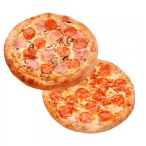 """2 Римские Пиццы """"Пепперони"""" 30 см и """"Феличита"""" 30 см за 499 руб!"""