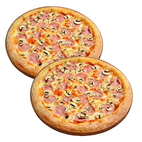 2 пиццы Ветчина-грибы по цене одной