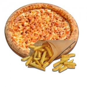 Картофель Фри в подарок при заказе пиццы Маргарита 30 см.