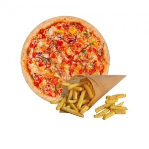 Картофель Фри в подарок при заказе пиццы Гавайская 30 см.