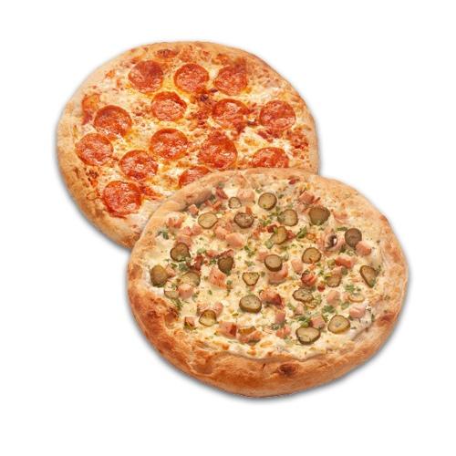 Римская пицца Пепперони + Римская пицца Ранчо